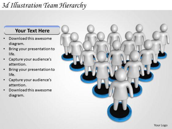 Business Management Strategy 3d Illustration Team Hierarchy Concepts