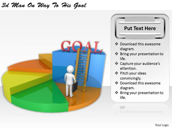 Business Management Strategy 3d On Way To His Goal Adaptable Concepts