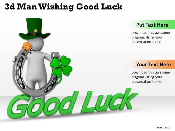 Business Management Strategy 3d Wishing Good Luck Basic Concepts