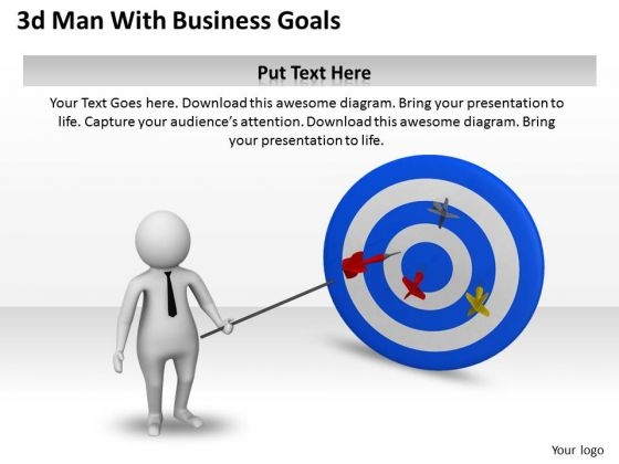 Business Management Strategy 3d With Goals Basic Concepts