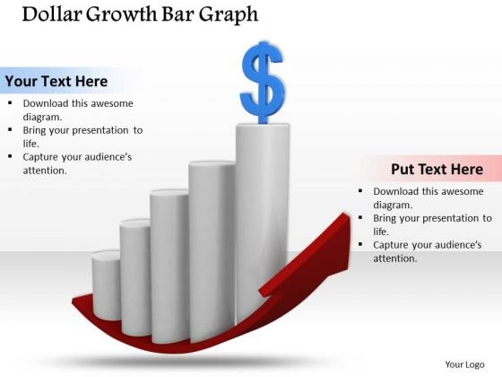 Business Management Strategy Dollar Growth Bar Graph Clipart Images