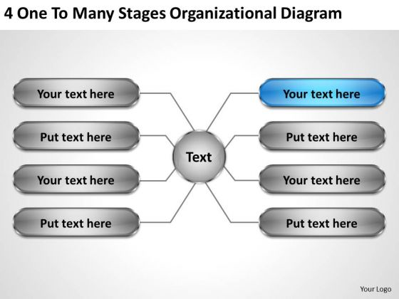 Business Management Strategy Many Stages Organizational Diagram Development