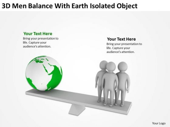 Business Management Structure Diagram Balance With Earth Isolated Object PowerPoint Templates