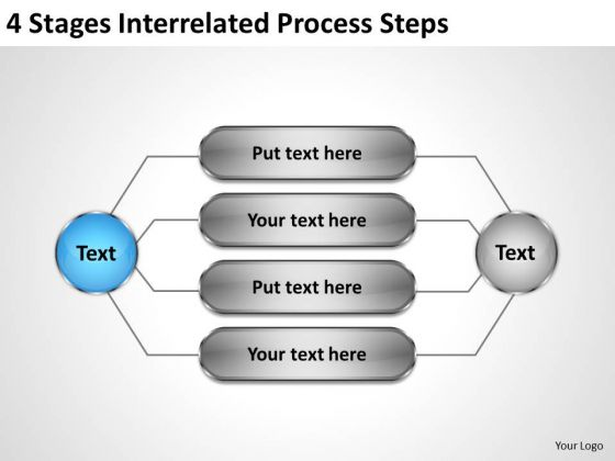 Business Management Structure Diagram Stages Interrelated Process Steps Ppt PowerPoint Templates