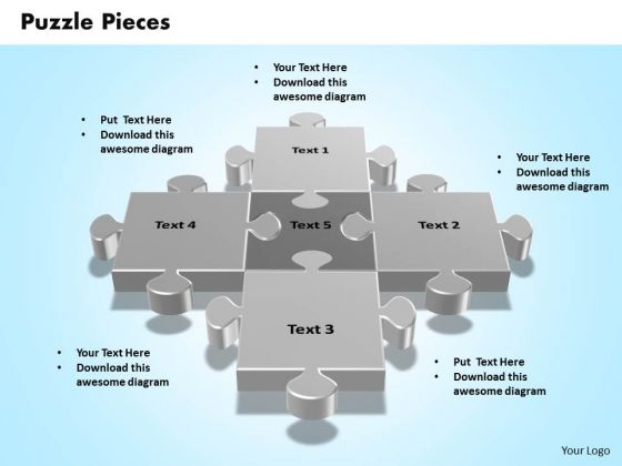Business Marketing PowerPoint Templates Business 3d Interconnected Jigsaw Puzzle Pieces Ppt Slides
