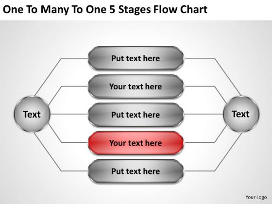 Business Marketing Strategy To Many 5 Stages Flow Chart Ppt Consultant
