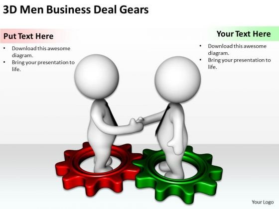 Business Men PowerPoint Templates Deal Gears Ppt Backgrounds For Slides