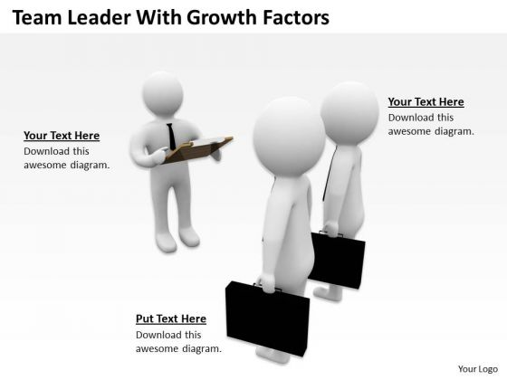 Business Men Team Leader With Growth Factors PowerPoint Templates Ppt Backgrounds For Slides