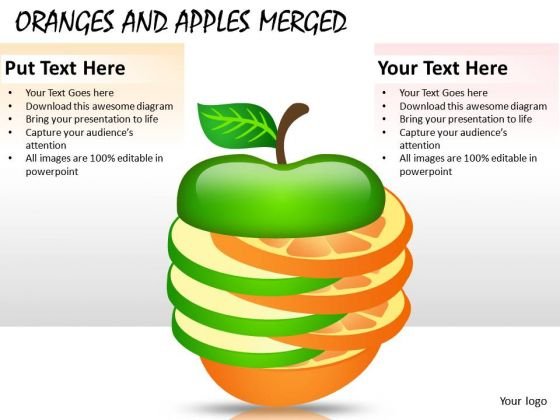 Business Merger Oranges And Apples PowerPoint Slides And Ppt Diagram Templates