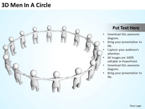 Business Model Diagram 3d Men Circle PowerPoint Templates Ppt Backgrounds For Slides