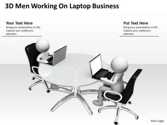Business Model Diagram Examples Laptop PowerPoint Templates Download
