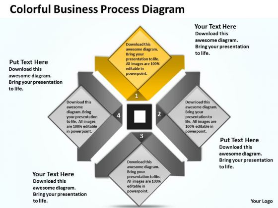 Business Model Diagrams PowerPoint Templates Backgrounds For Slides