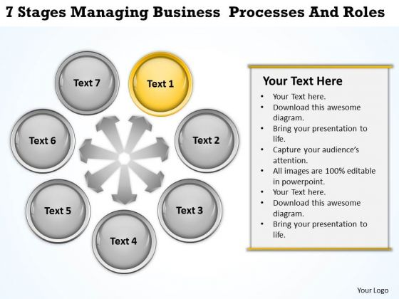 Business Model Diagrams PowerPoint Templates Download Processes And Roles Slides