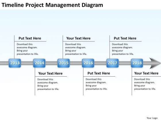 Business Model Diagrams Timeline Project Mangement PowerPoint Templates