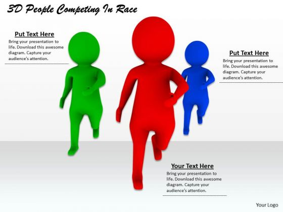 Business Model Strategy 3d People Competing Race Adaptable Concepts