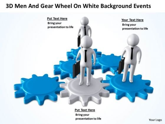 Business Network Diagram Wheel On White Change Background PowerPoint Events Templates