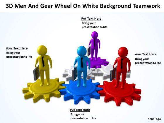 Business Network Diagram Wheel On White Change Background PowerPoint ...