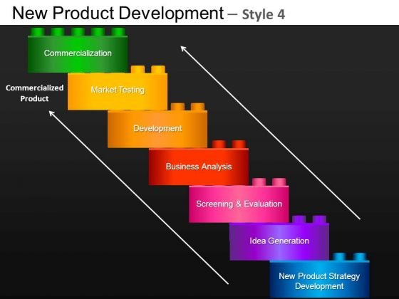 Business New Product Development 4 PowerPoint Slides And Ppt Diagram Templates