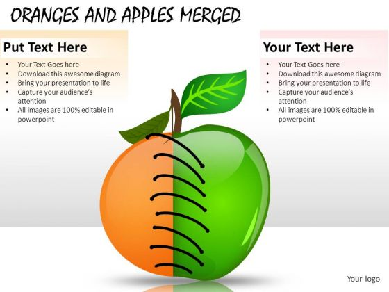 Business Oranges And Apples Merged PowerPoint Slides And Ppt Diagram Templates