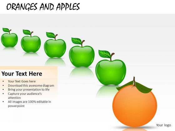 Business Oranges And Apples PowerPoint Slides And Ppt Diagram Templates