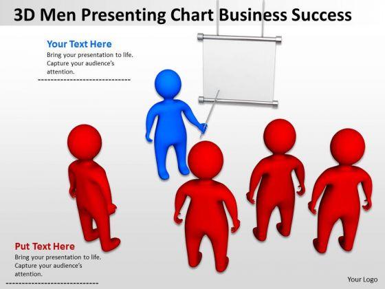 Business Organizational Chart Examples 3d Men Pressenting Success PowerPoint Slides