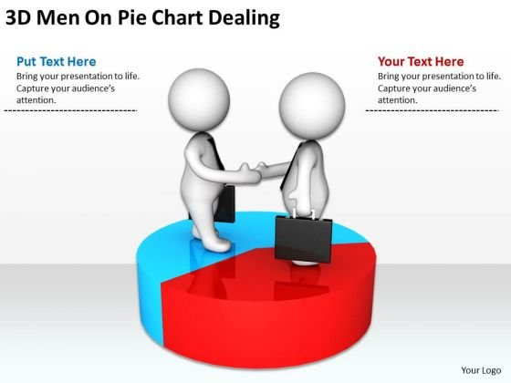 Business People 3d Men On Pie Chart Dealing PowerPoint Templates Ppt Backgrounds For Slides