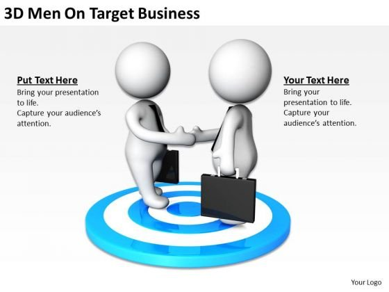 Business People 3d Men On Target World PowerPoint Templates Slides