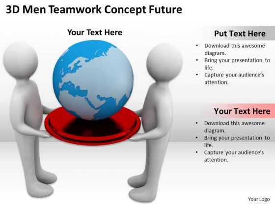 Business People 3d Men Teamwork Concept Future PowerPoint Templates Ppt Backgrounds For Slides