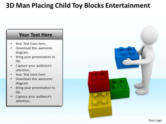 Business People Child Toy Blocks Entertainment PowerPoint Templates Ppt Backgrounds For Slides