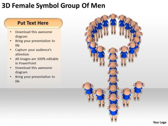 Business People Clip Art 3d Men Female Symbol Group Of PowerPoint Slides