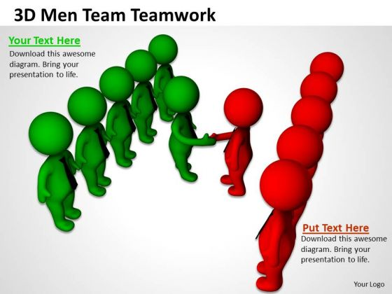 Business People Clip Art 3d Men Team Teamwork PowerPoint Templates
