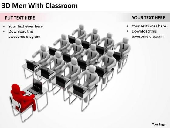 Business People Clip Art 3d Men With Classroom PowerPoint Slides