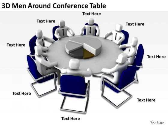 Business People Clip Art Around Conference Table PowerPoint Templates Ppt Backgrounds For Slides