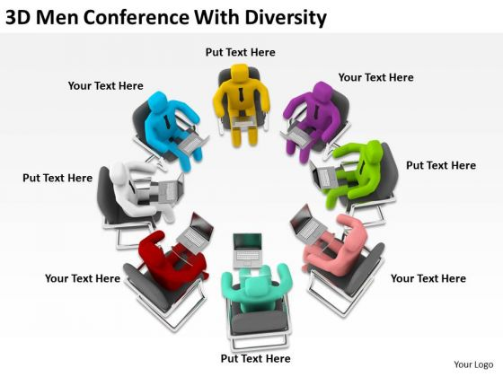 Business People Clip Art Conference With Diversity PowerPoint Templates Ppt Backgrounds For Slides