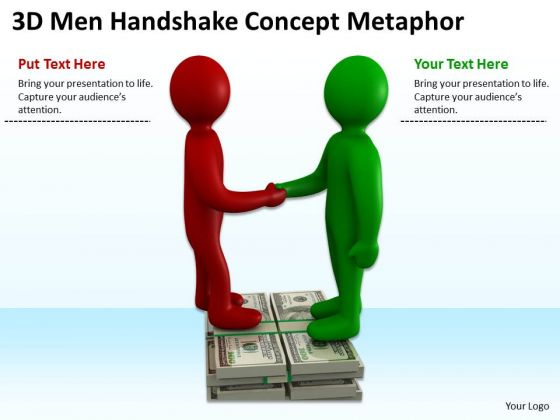 Business People Clip Art Handshake Concept Metaphor PowerPoint Templates Ppt Backgrounds For Slides