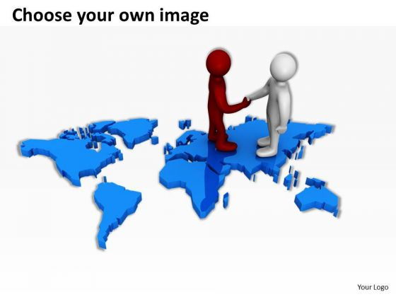 business people clip art on world map powerpoint presentations, Modern powerpoint