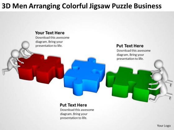 business people clipart jigsaw puzzle powerpoint presentations, Modern powerpoint