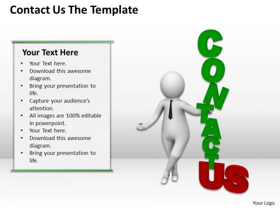 Business People Contact Template PowerPoint Slides