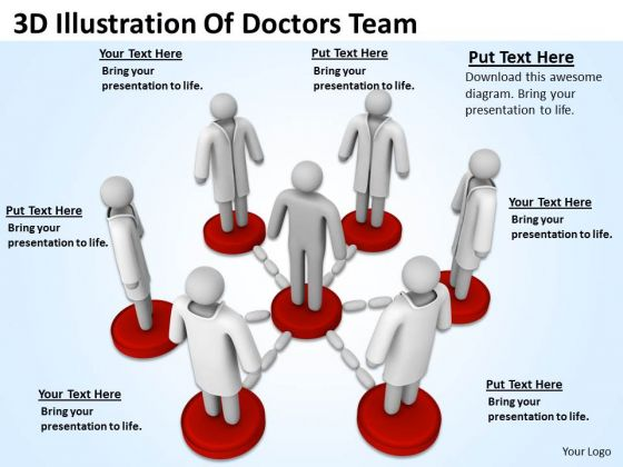 Business People Images 3d Illustration Of Doctors Team PowerPoint Slides