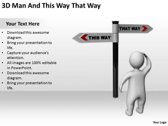 Business People Images 3d Man And This Way That PowerPoint Slides