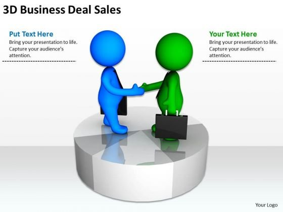 Business People Images 3d Men Free PowerPoint Templates Deal Sales Slides