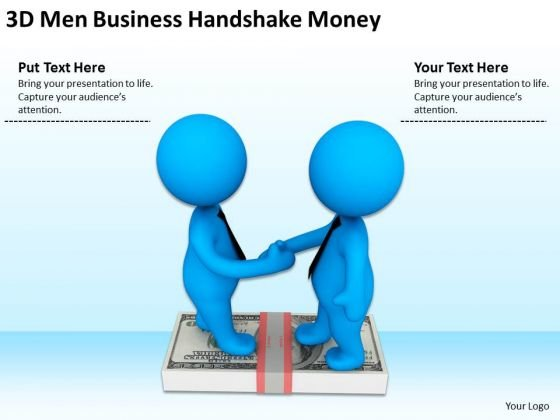 Business People Images 3d Men Free PowerPoint Templates Handshake Money Slides