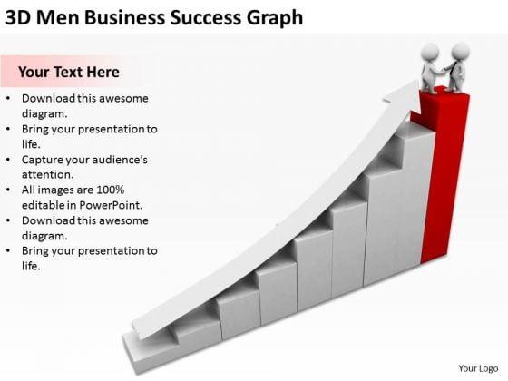 Business People Images 3d Men Free PowerPoint Templates Success Graph Slides