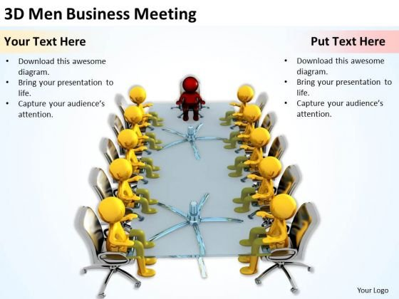 Business People Images 3d Men PowerPoint Presentation Meeting Slides