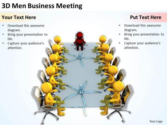 Business People Images 3d Men PowerPoint Presentation Meeting Slides
