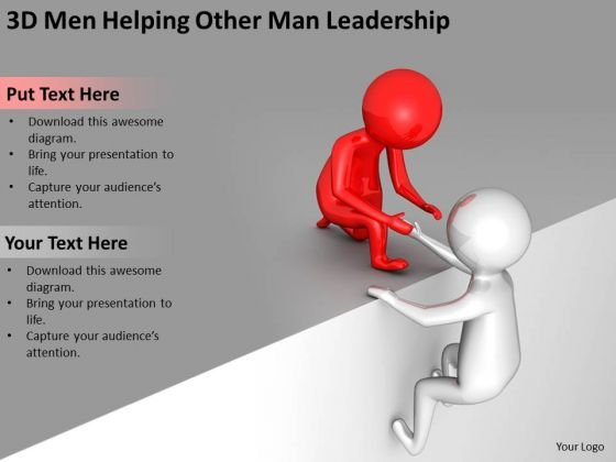Business People Images Helping Other Man Leadership PowerPoint Templates Ppt Backgrounds For Slides