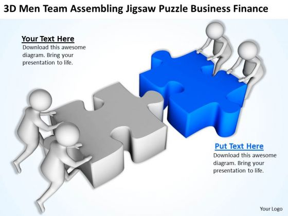 Business People Images Jigsaw Puzzle World PowerPoint Templates Finance Slides