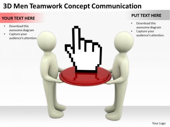 Business People Men Teamwork Concept Communication PowerPoint Templates Ppt Backgrounds For Slides