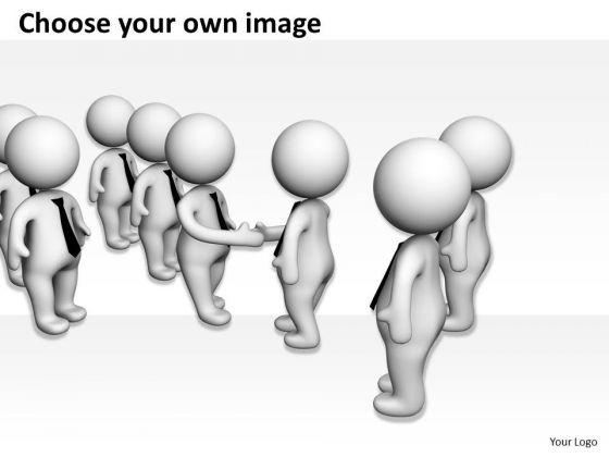Business People Pictures 3d Men Team Handshake PowerPoint Templates