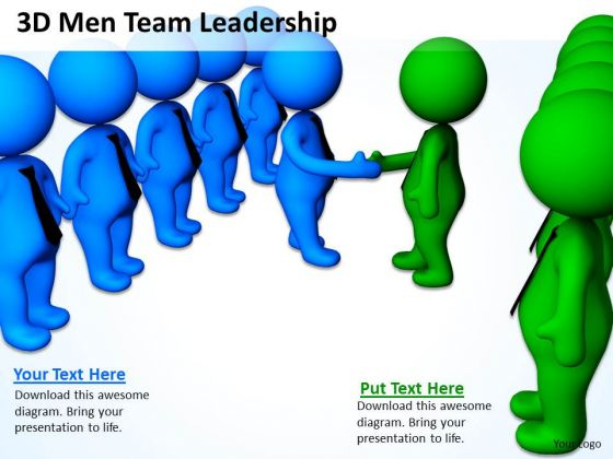 Business People Pictures 3d Men Team Leadership PowerPoint Templates